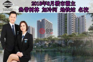 居外网在售新加坡2卧1卫新开发的房产总占地18711平方米SGD 938,000
