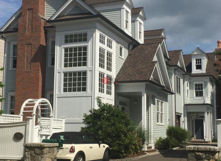 一楼康涅狄格格林威治2卧4卫的别墅挑高没有美国房产图片