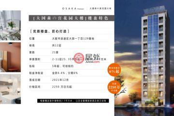 居外网在售日本Osaka1卧1卫的房产总占地25平方米