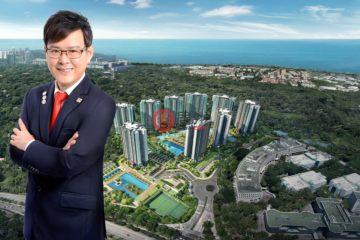 居外网在售新加坡3卧3卫新开发的公寓总占地101平方米SGD 1,980,000