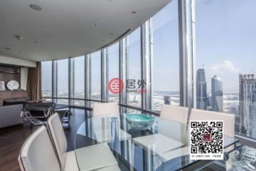 居外网在售阿联酋迪拜2卧2卫的房产总占地251平方米AED 7,738,888