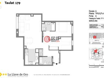 西班牙BarcelonaBarcelona的新建房产,TAULAT,编号46639041