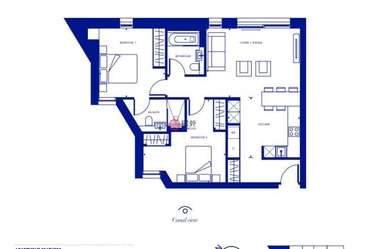 英国英格兰伦敦的公寓,Canalside Walk,编号59278165