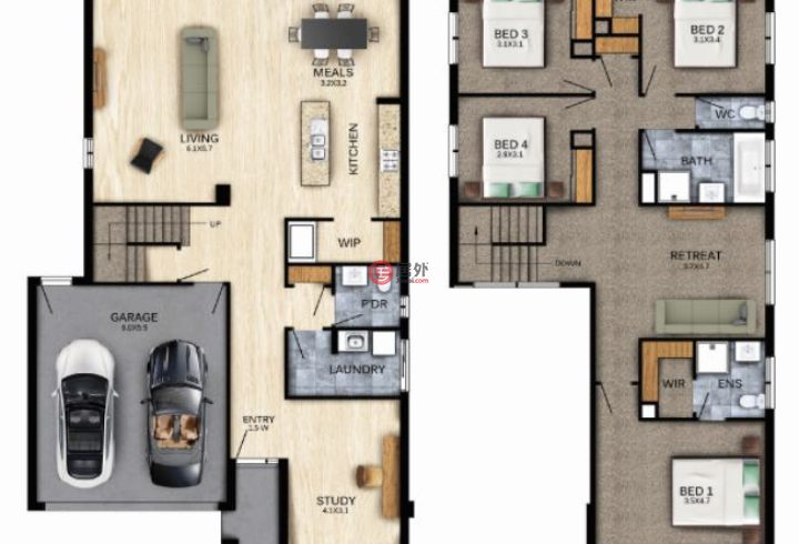 澳大利亚维多利亚州墨尔本的房产,point cook,编号54604592