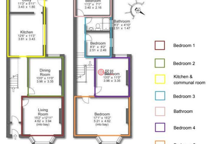 英国英格兰Prenton的房产,5 Heathfield Road,编号52318168
