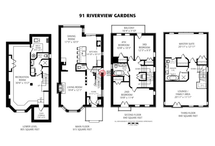 加拿大安大略省多伦多的房产,91 Riverview Gdns.,编号48848583