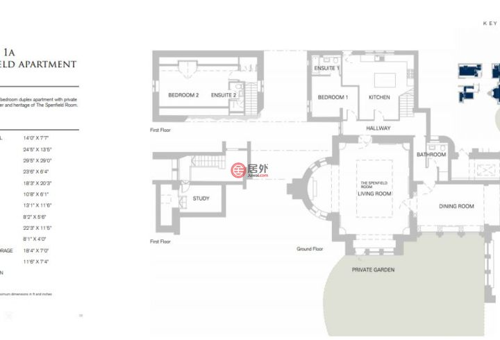 英国英格兰利兹的房产,1A Spenfield House, Spenfield Court,编号51686966