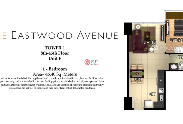 菲律宾Metro ManilaQuezon City的房产,Eastwood Ave,编号50699715