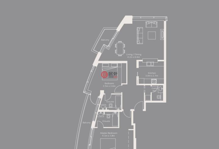 阿联酋迪拜迪拜的房产,The Loft West, Downtown,编号51870489