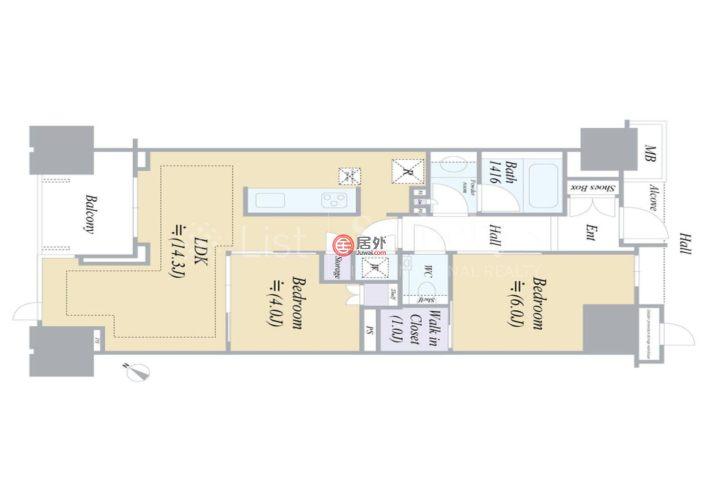 日本TokyoChuo-ku的公寓,编号59152651