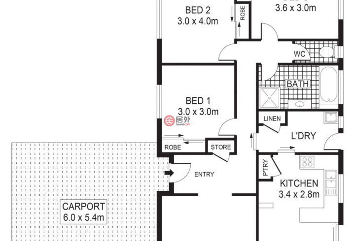 澳大利亚维多利亚州Long Gully的房产,8 Truscott Street,编号43537552